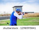 shooting sports. team workouts  ... | Shutterstock . vector #1298595841