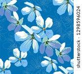 seamless pattern of a flowers.... | Shutterstock .eps vector #1298596024