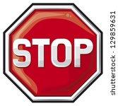 stop sign  | Shutterstock .eps vector #129859631