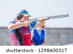 shooting sports. team workouts  ... | Shutterstock . vector #1298600317