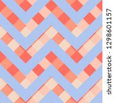 vector square zigzag seamless... | Shutterstock .eps vector #1298601157