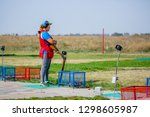shooting sports. team workouts  ... | Shutterstock . vector #1298605987