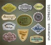 retro styled labels set   eps10 | Shutterstock .eps vector #129861101