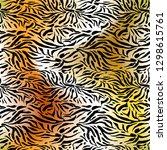 fashion animal skin. textured... | Shutterstock .eps vector #1298615761