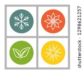 a set of four seasons icons.... | Shutterstock .eps vector #1298621257