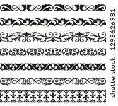 decorative seamless borders... | Shutterstock .eps vector #1298626981