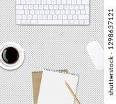 computer keyboard frame... | Shutterstock .eps vector #1298637121