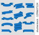 blue web ribbons set... | Shutterstock . vector #1298637124