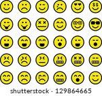 emoticons | Shutterstock .eps vector #129864665