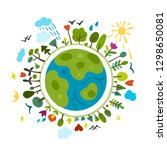 world environment day... | Shutterstock .eps vector #1298650081