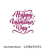happy valentine's day lettering.... | Shutterstock .eps vector #1298654551
