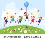 vector illustration of happy... | Shutterstock .eps vector #1298662531