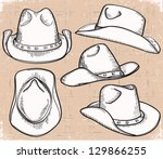 Cowboy Hat Collection .vector...