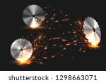 sparks from rotating circular... | Shutterstock .eps vector #1298663071