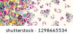 flowers pattern..for textile ... | Shutterstock . vector #1298665534