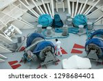 man getting ready to drop... | Shutterstock . vector #1298684401