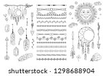 hand drawn boho dream catcher ... | Shutterstock .eps vector #1298688904