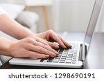 hands of mature woman working...   Shutterstock . vector #1298690191