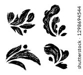 hand drawn floral elements | Shutterstock .eps vector #1298694544
