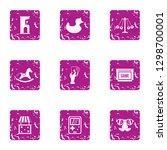 gadget icons set. grunge set of ... | Shutterstock . vector #1298700001