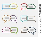colorful speech bubbles | Shutterstock .eps vector #129870137