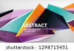 3d geometric triangular shapes... | Shutterstock .eps vector #1298715451