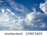 bright beautiful blue sky with... | Shutterstock . vector #129871835
