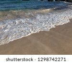 soft wave of blue ocean on... | Shutterstock . vector #1298742271