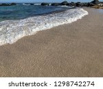 soft wave of blue ocean on... | Shutterstock . vector #1298742274