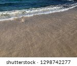 soft wave of blue ocean on... | Shutterstock . vector #1298742277