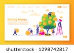 concept of landing page on... | Shutterstock .eps vector #1298742817