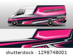 car decal wrap company designs... | Shutterstock .eps vector #1298748001