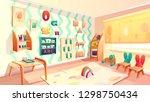 vector montessori room ... | Shutterstock .eps vector #1298750434