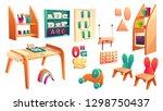 vector montessori set  elements ... | Shutterstock .eps vector #1298750437
