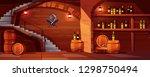 vector wine cellar background ... | Shutterstock .eps vector #1298750494