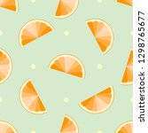 orange slices summer seamless... | Shutterstock .eps vector #1298765677