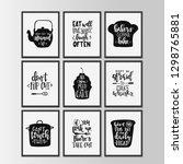 happy kitchen drawn typography... | Shutterstock .eps vector #1298765881