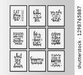 happy kitchen drawn typography... | Shutterstock .eps vector #1298765887
