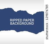ripped paper pieces background | Shutterstock .eps vector #129876785