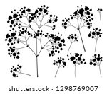 vector set with silhouette... | Shutterstock .eps vector #1298769007
