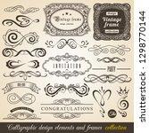 calligraphic design elements... | Shutterstock .eps vector #1298770144