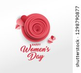 happy women's day greeting card ... | Shutterstock .eps vector #1298790877