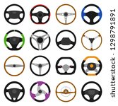 set of different steering... | Shutterstock .eps vector #1298791891