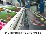 offset machine press fountain... | Shutterstock . vector #129879551