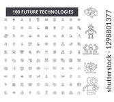 future technologies editable... | Shutterstock .eps vector #1298801377