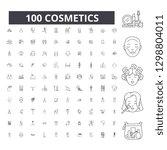 cosmetics editable line icons ... | Shutterstock .eps vector #1298804011