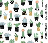 seamless pattern with different ... | Shutterstock .eps vector #1298815807