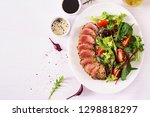 japanese traditional salad with ... | Shutterstock . vector #1298818297