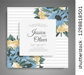 wedding invitation. beautiful... | Shutterstock .eps vector #1298818501