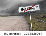 no internet connection concept. ... | Shutterstock . vector #1298835064
